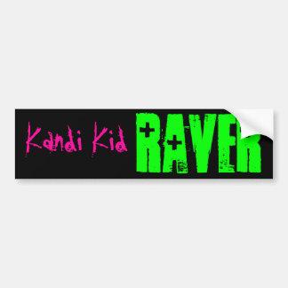 RAVER, niño de Kandi Pegatina De Parachoque