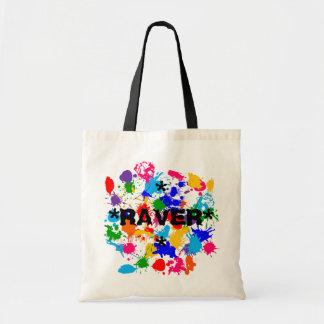 **RAVER** Paint Splash Canvas Bag