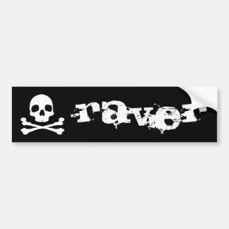 Raver Skull Bumper Sticker