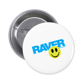Raver Smilie - DJ Clubbing Rave Party Music 2 Inch Round Button