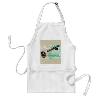 Ravi Shankar Tribute To Sitar and Indian Music Adult Apron