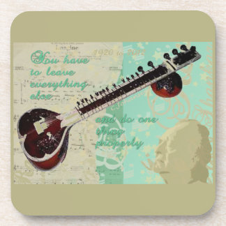 Ravi Shankar Tribute To Sitar and Indian Music Beverage Coasters
