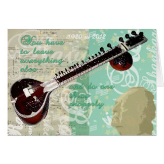 Ravi Shankar Tribute To Sitar and Indian Music Card