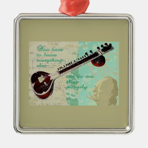 Ravi Shankar Tribute To Sitar and Indian Music Metal Ornament