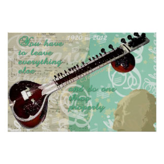 Ravi Shankar Tribute To Sitar and Indian Music Poster