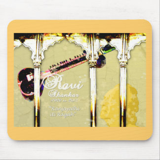Ravi Shankar Tribute To Sitar -Arches, Music, Star Mouse Pad