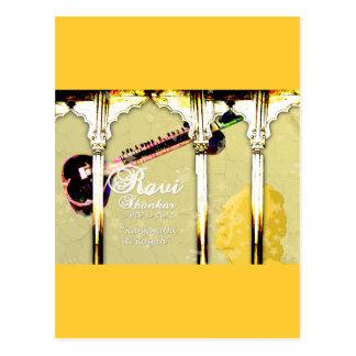 Ravi Shankar Tribute To Sitar -Arches, Music, Star Postcard