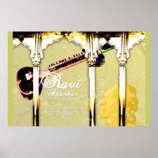 Ravi Shankar Tribute To Sitar -Arches, Music, Star Poster