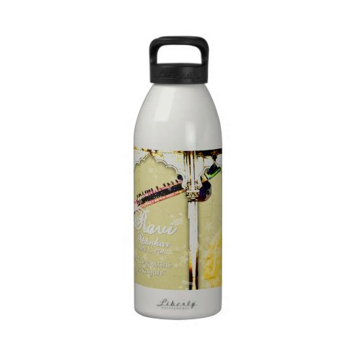 Ravi Shankar Tribute To Sitar -Arches, Music, Star Reusable Water Bottle