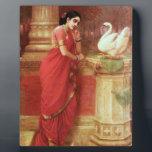 "Ravi Varma Paintings-Hamsa Dhayamthi Plaque<br><div class=""desc"">The products contains the painting of Raja Ravi Varma.</div>"
