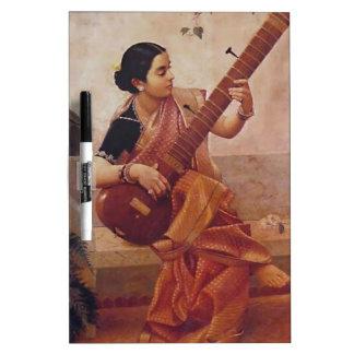 Ravi Varma Paintings-Lady With the sitarThis Dry-Erase Board
