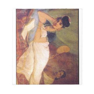 Ravi Varma Paintings-Thinking and Resting Notepad