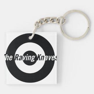 Raving Knaves Square key chain