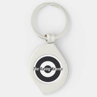 Raving Knaves Swirl Key fob Silver-Colored Swirl Metal Keychain
