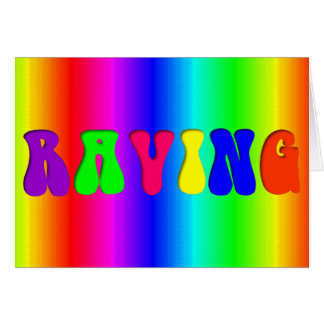 RAVING Rainbow Card
