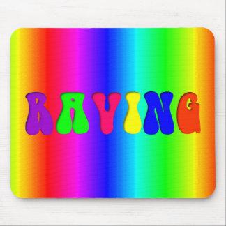 RAVING Rainbow Mouse Pad