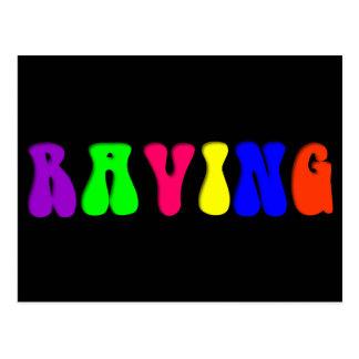 RAVING Rainbow Postcard