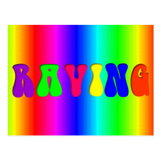 RAVING Rainbow Postcard