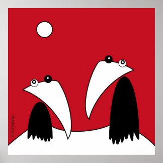 Raving Ravens - RK The Top OF The Fujiyama Poster