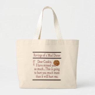 Ravings of a Mad Dieter_Cookie Large Tote Bag