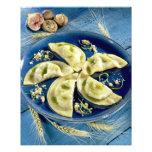 Ravioles con el d'Auvergne de Bleu para el uso en  Impresion Fotografica