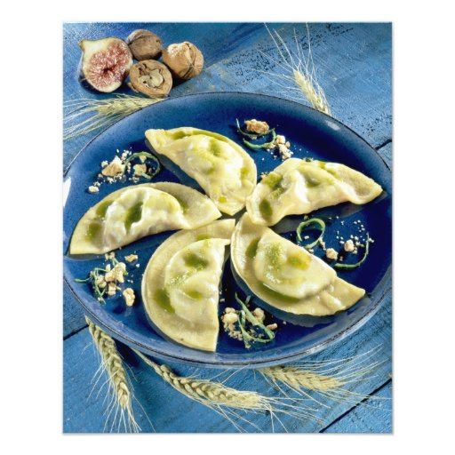 Ravioles with Bleu d'Auvergne For use in USA Photograph