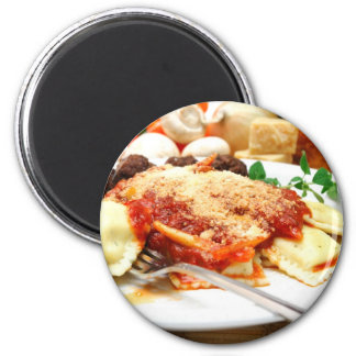 Ravioli And Meatballs 2 Inch Round Magnet