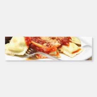 Ravioli And Meatballs Bumper Sticker