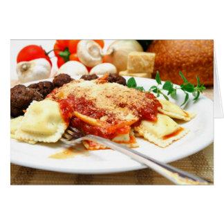 Ravioli And Meatballs Card