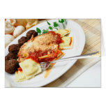 Ravioli And Meatballs Cards