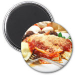 Ravioli And Meatballs Fridge Magnet