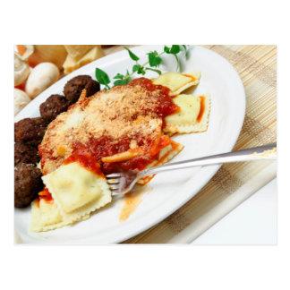 Ravioli And Meatballs Postcard