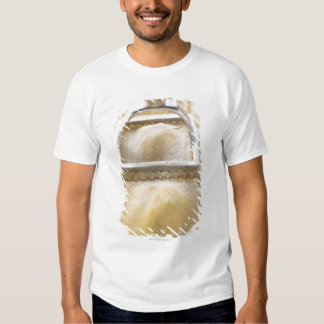 Ravioli with pastry cutter, close up tee shirt
