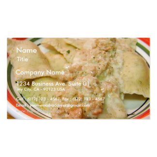 Raviolis Clams Sauces Food Dinner Cooking Business Card Template