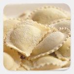 raviolis italianos pegatina cuadrada