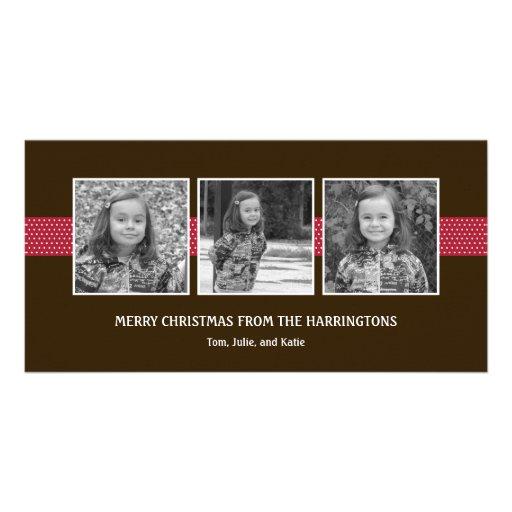 Ravishing Ribbons Holiday Card/ Christmas Card