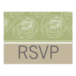 Ravishing Roses Elegant Response Card