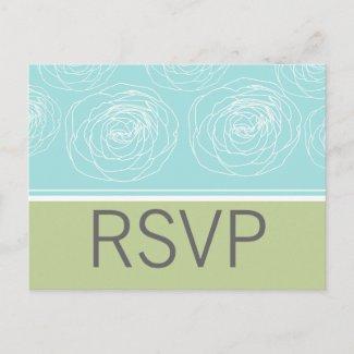 Ravishing Roses Elegant Response Card postcard