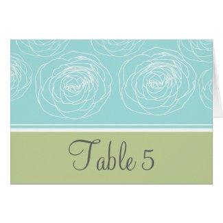 Ravishing Roses Elegant Table Card card