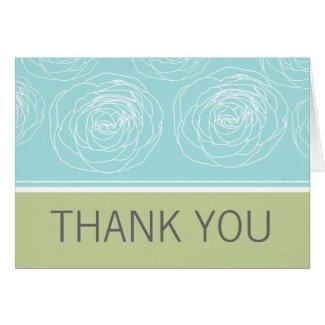 Ravishing Roses Elegant Thank You Card card