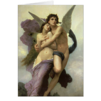 Ravishment by Bouguereau, Vintage Victorian Angel Greeting Cards