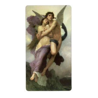 Ravishment by Bouguereau, Vintage Victorian Angel Shipping Label