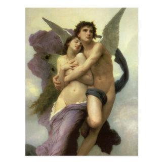Ravishment by Bouguereau, Vintage Victorian Angel Post Cards