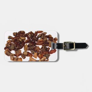 Raw amber pebbles bag tag