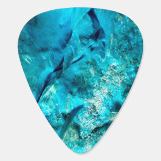 Raw And Rough Turquoise Texture Guitar Pick