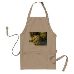 Raw artichokes adult apron