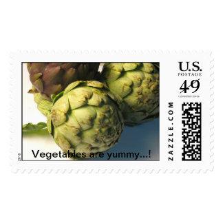 Raw artichokes postage