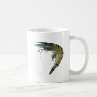 Raw black tiger prawn coffee mug