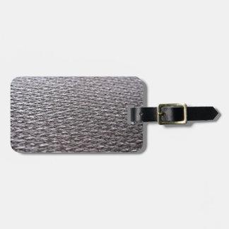 Raw Carbon Fiber Textured Bag Tag