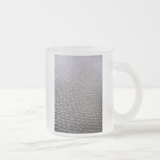 Raw Carbon Fiber Textured Frosted Glass Coffee Mug